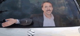 Questa è un'automobile di un fan di Nicolas Cage